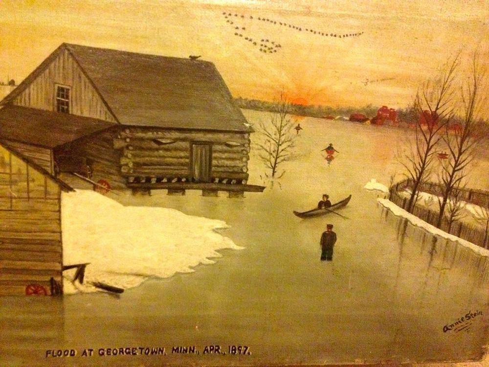 Flood at Georgetown, Minn, April 1897