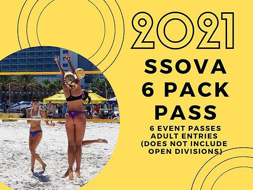 6 Pack Adult Entries ($105 in Savings!)