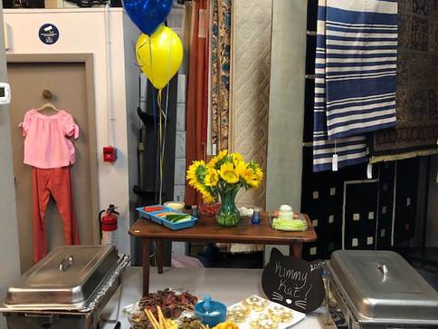 Birthday party canapes