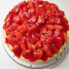 New York Style Cheesecake (Topped With Strawberries)