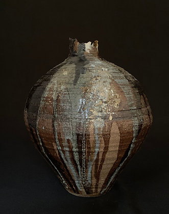 Big dark brown vase