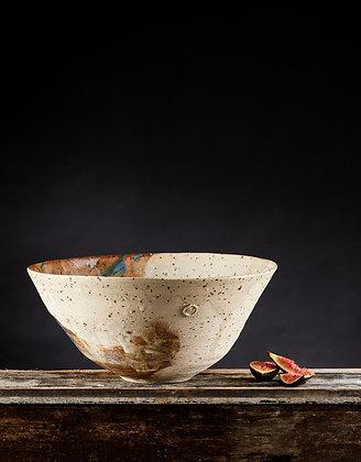 Large fleck clay bowls