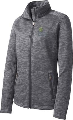 Ladies Digi Stripe Fleece Jacket | Vanessa Behan