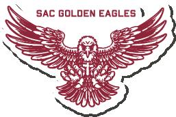 "SAC Golden Eagles   4"" Sticker"