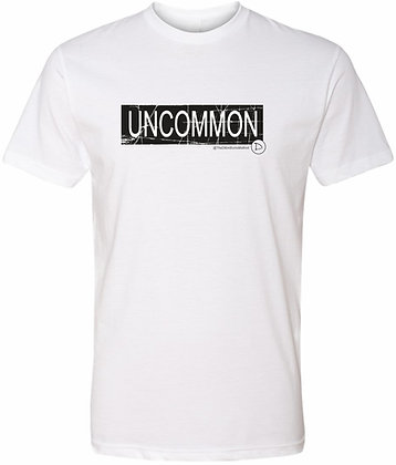 The Dillon Burns Collection | White Adult Tee | Uncommon Distressed
