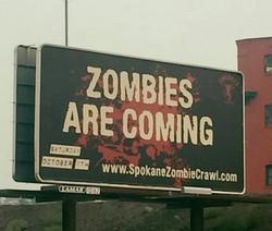 Spokane Zombie Crawl Billboard