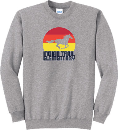 Indian Trail Elementary | Adult Crewneck Sweatshirt