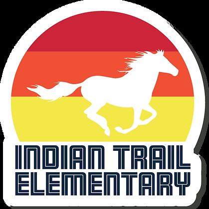 "Indian Trail Elementary | 4"" Sticker"