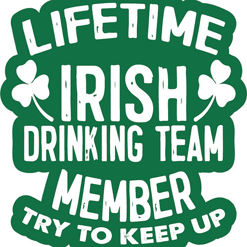 Lifetime Irish Drinking Team Patch