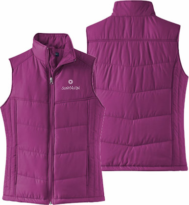 Ladies Puffy Vest | Sunhaven Arena