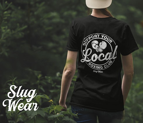 Support Your Local Boxing Tee   Slug Wear