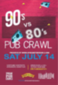 90s vs 80s pub crawl