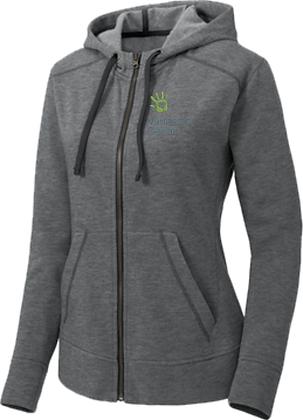 Ladies PosiCharge ® Tri-Blend Wicking Fleece Full-Zip Hooded Jac   Vanessa Behan