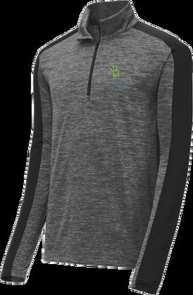 PosiCharge® Electric Heather 1/4-Zip Pullover | Vanessa Behan