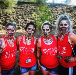 Spokane Zombie Crawl Promo Team at Pig Out in the Park