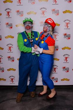 Spokane Zombie Crawl Mario and Luigie