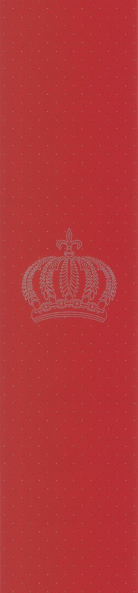 Harald Glööckler Designer Barock Vliestapete 52717 - Krone - Rot mit Straßsteinen