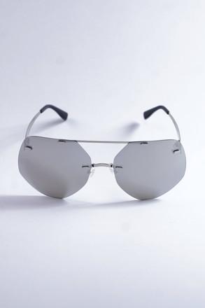 Pompöös Sonnenbrille Berlin, Glasses large 68/19 silber/grau