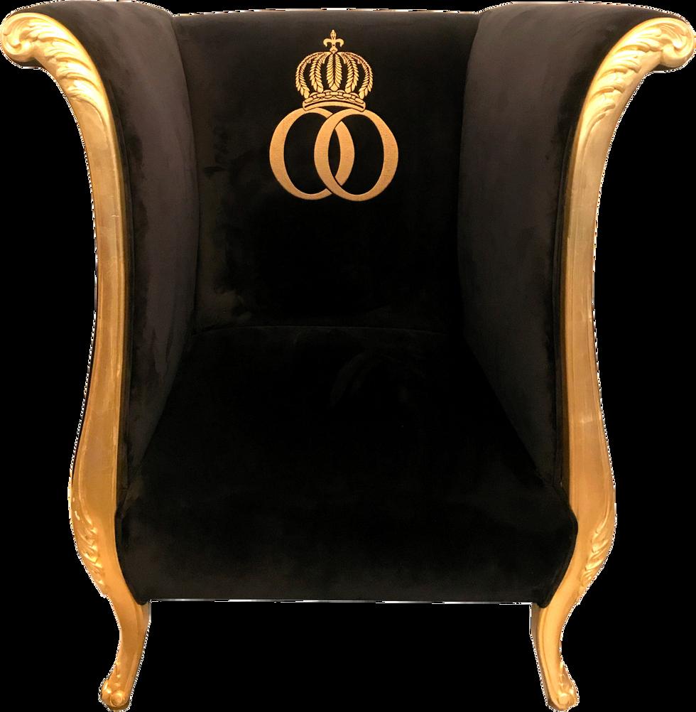 Luxus Designer Sessel Schwarz / Gold