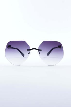 Pompöös Sonnenbrille Frankfurt schwarz matt/grau