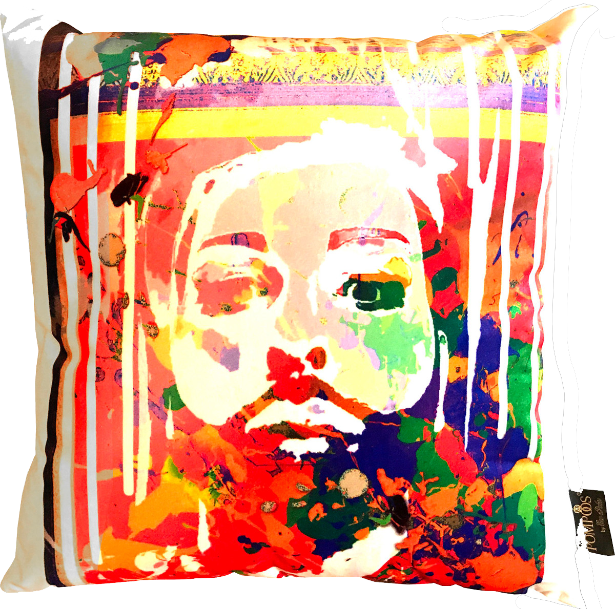 Designer Kissen Colorful Face