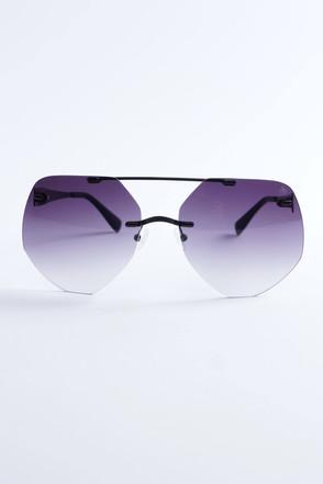Pompöös Sonnenbrille Berlin, Glasses large 68/19 schwarz matt/grau