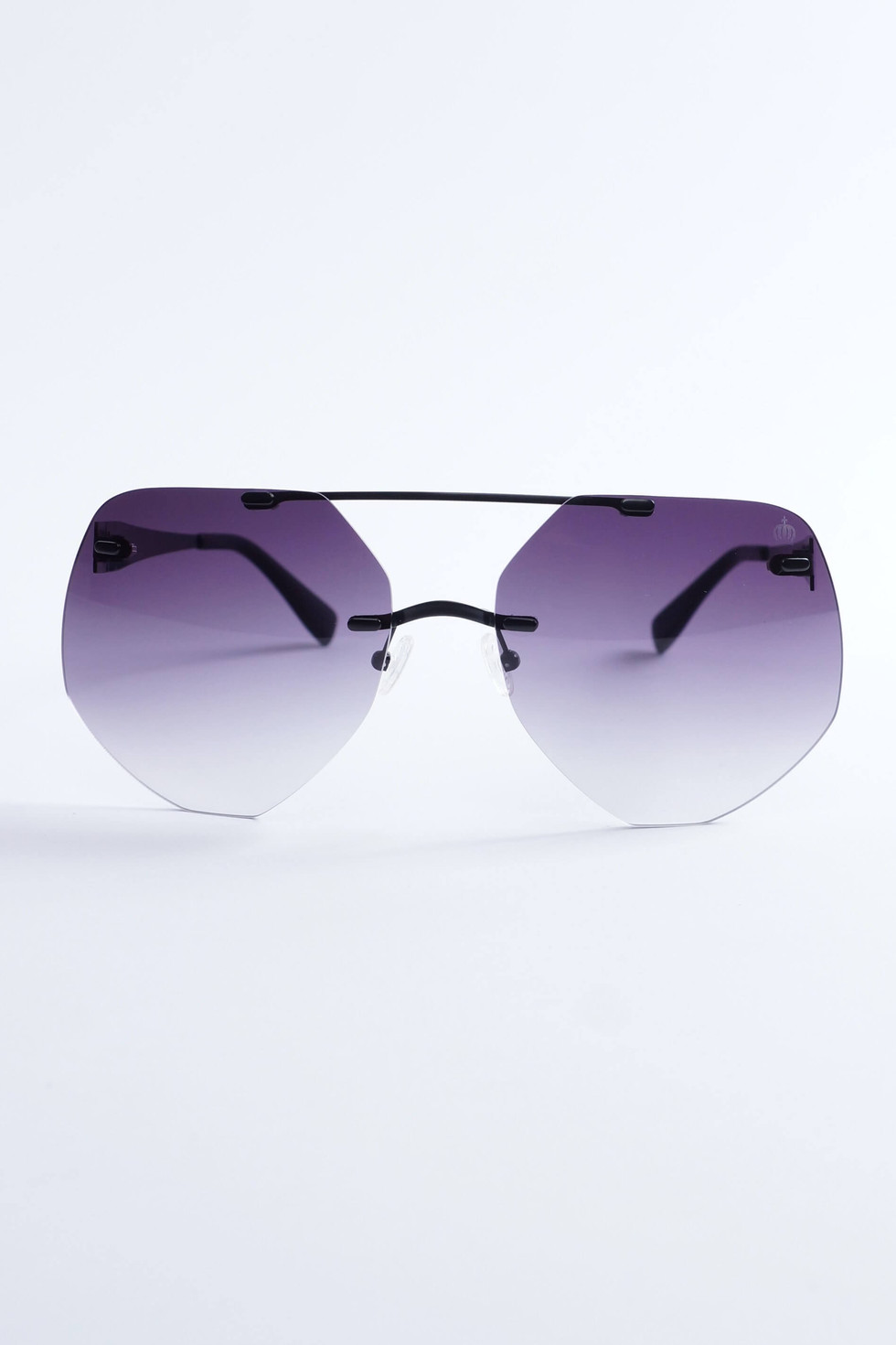 Pompöös Sonnenbrille Berlin, Glasses small 63/19 schwarz matt/grau
