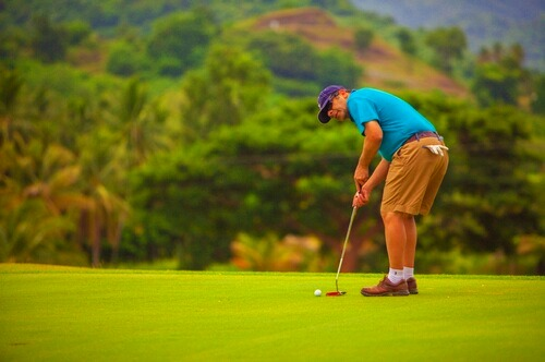 Golfing in Sri Lanka