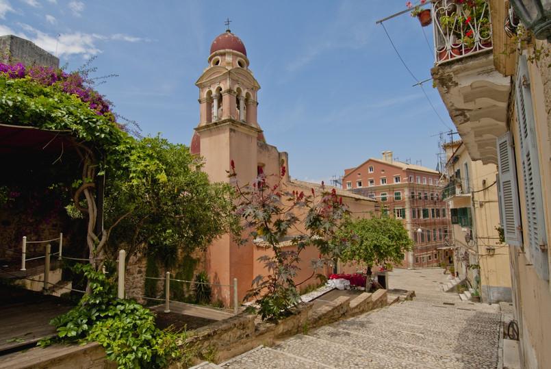 Roman Catholic Cathedral in Corfu city (