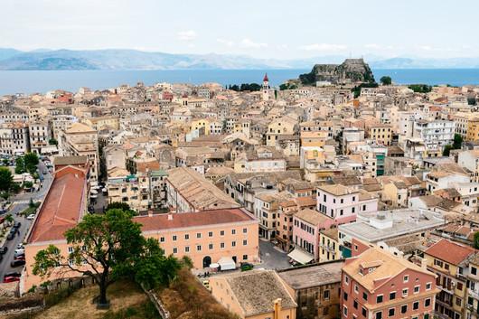 panorama of the Kerkyra, Corfu island, G