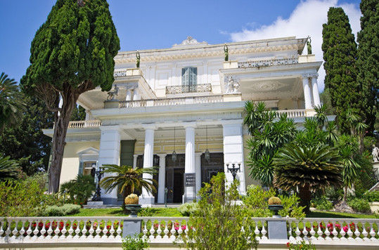 Achillion palace on Corfu island - Greec