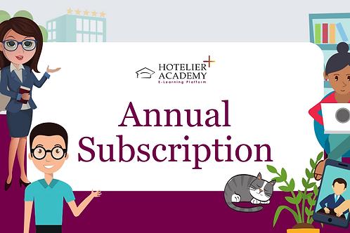 Hotelier Academy Plus | Ετήσιο Ξενοδοχειακό Εκπαιδευτικό Subscription