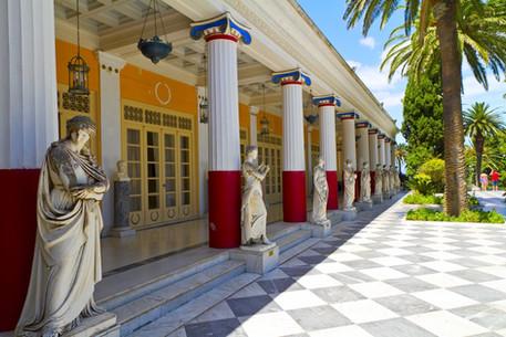Achillion palace, Corfu island , Greece.