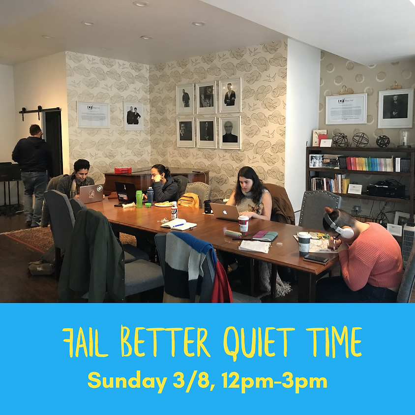 Quiet Time March 2020