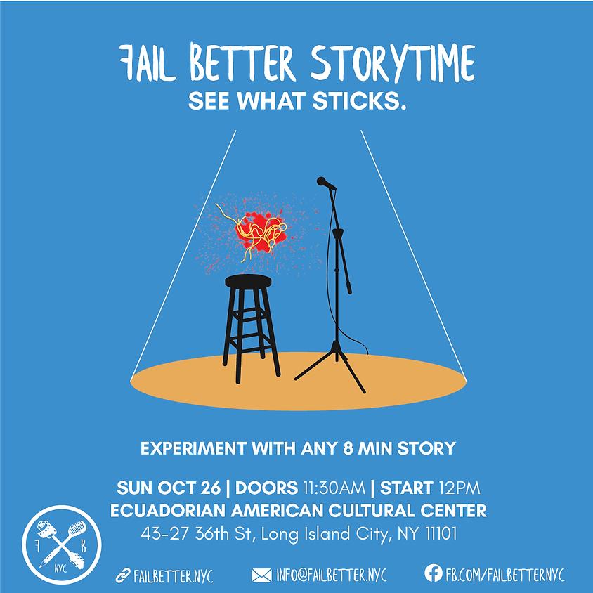 Fail Better Storytime: October 26th 2019