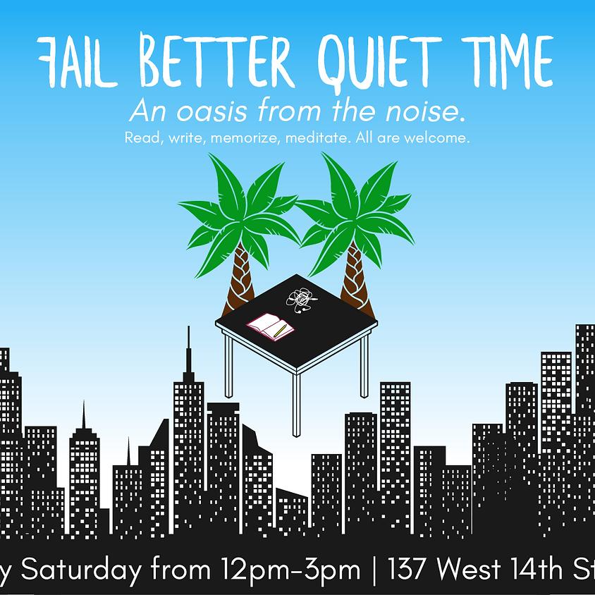 9/15 Fail Better Quiet Time