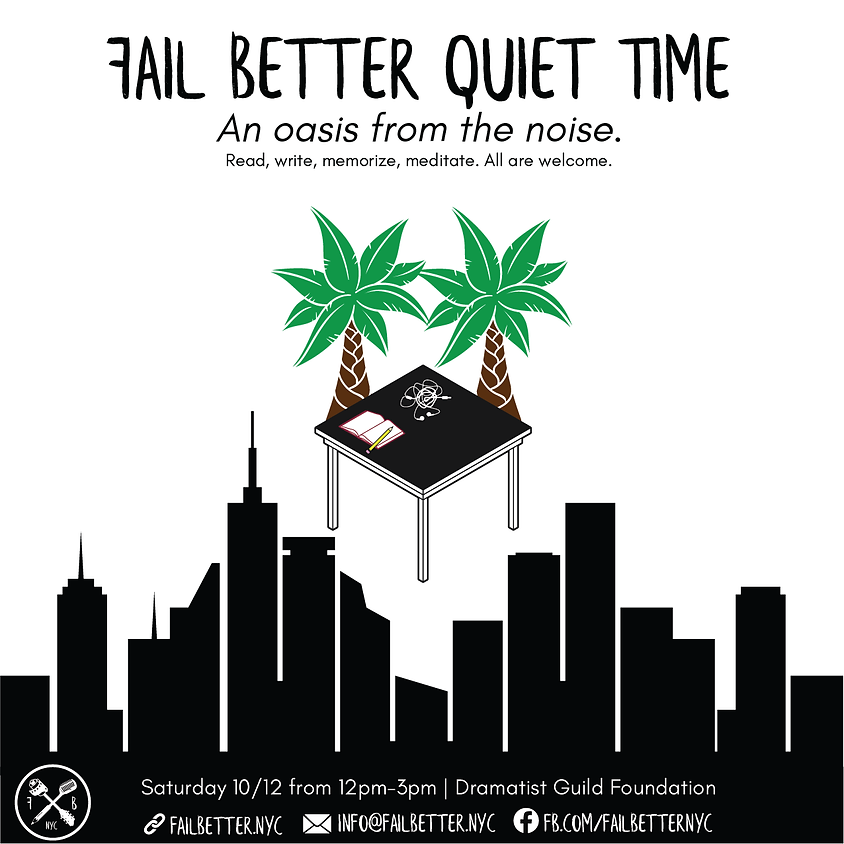 Fail Better Quiet Time: October 12th 2019