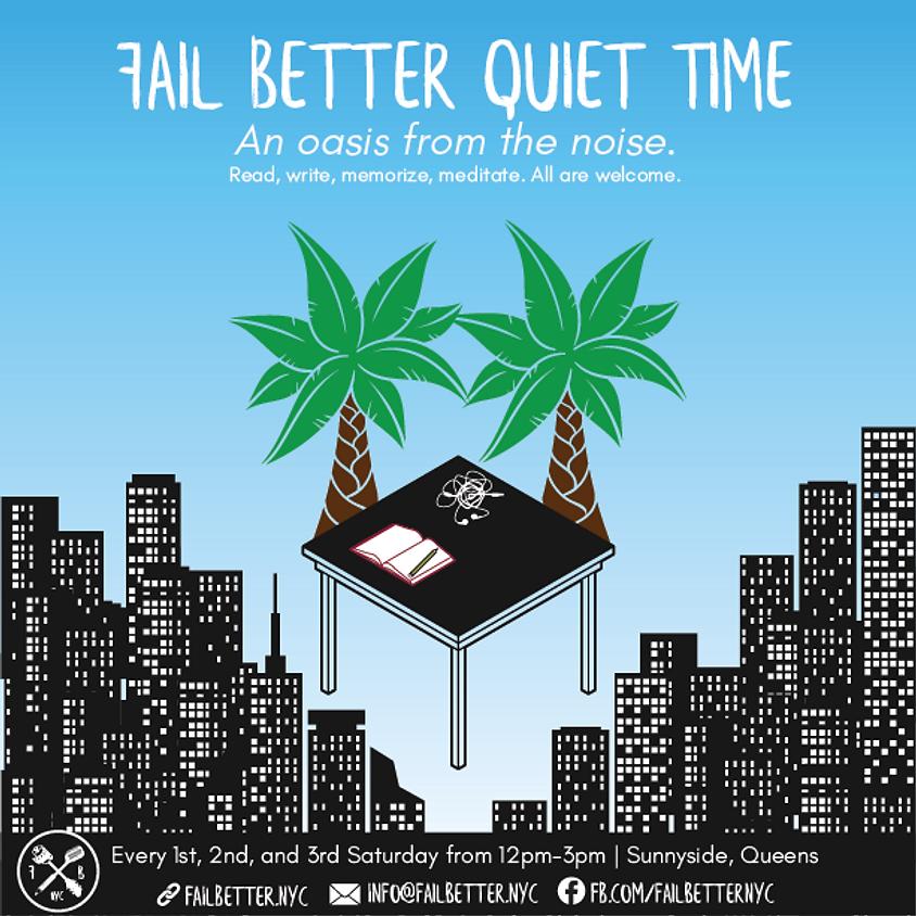 12/15 Fail Better Quiet Time