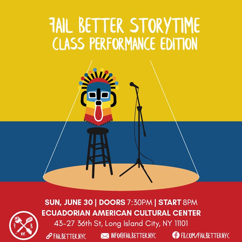 Fail Better Storytime: Class Presentation Edition (1)