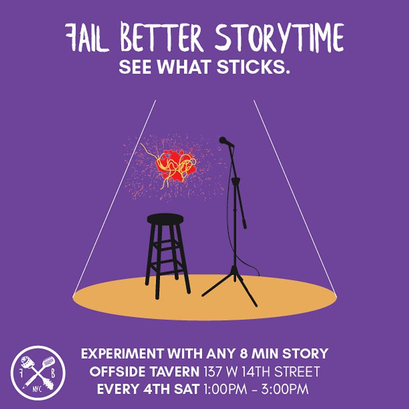 Fail Better Storytime September 2019