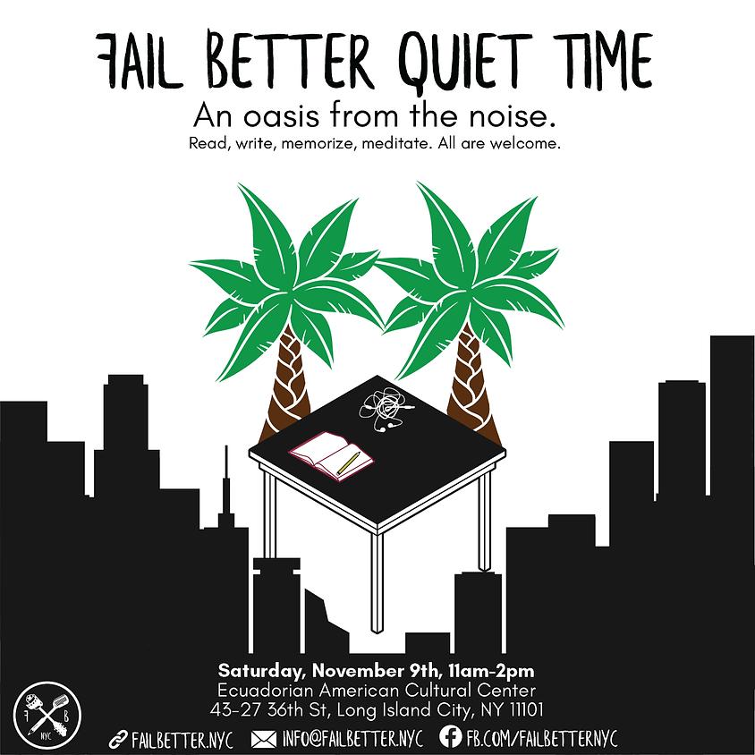 Fail Better Quiet Time: November 2019