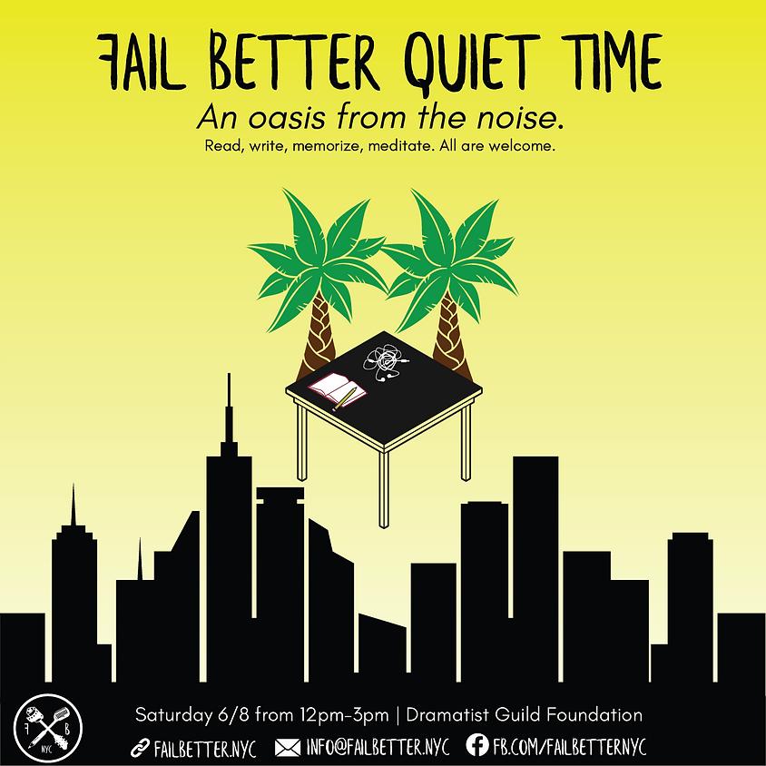 6/8 Fail Better Quiet Time