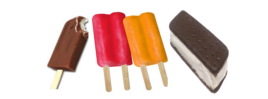 ASSORTED ICE CREAM AND POPSICLES