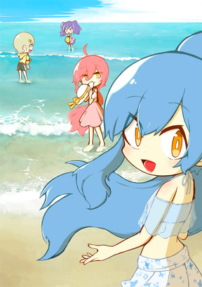 波のまにまの少女達