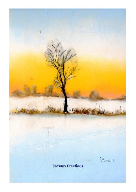 A Tree in Snowscape E-Card