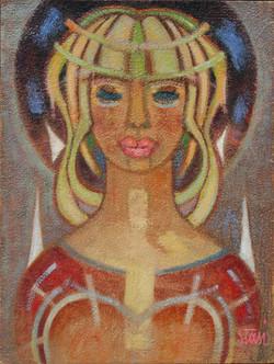 1977 Signora con labbra dipinte   40x30