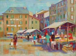 1992 Mercato in piazza dei Micone   70x100