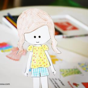 ROSITA -  A boneca de papel para imprimir, pintar, cortar e vestir!