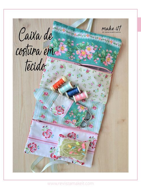 Caixa de costura em tecido