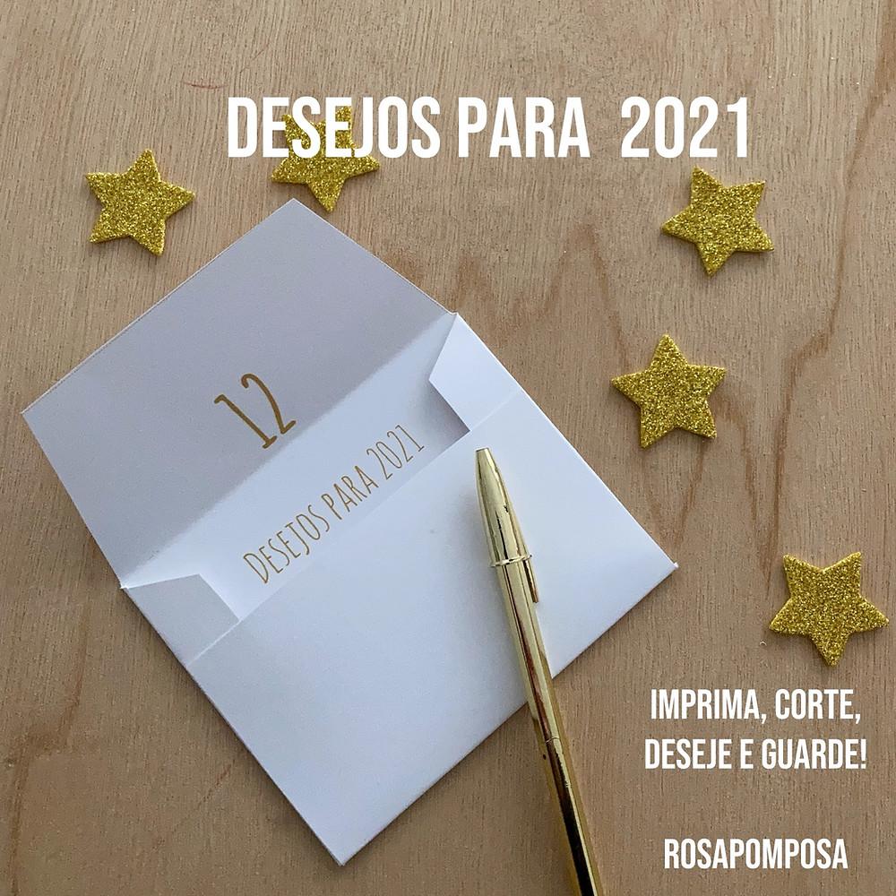 Envelope dos Desejos Rosapomposa ( free PDF)